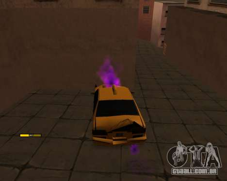 Indicador de HP carro para GTA San Andreas segunda tela