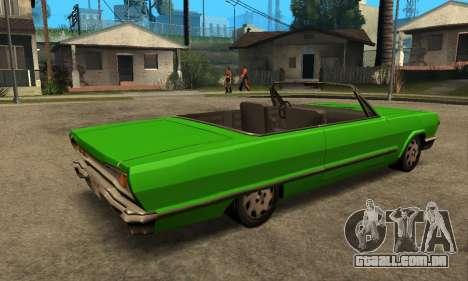 Beta Savanna para GTA San Andreas vista traseira