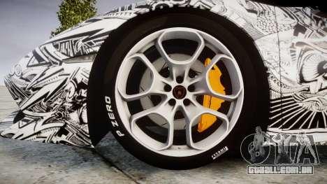 Lamborghini Huracan LP610-4 2015 Sharpie para GTA 4 vista de volta