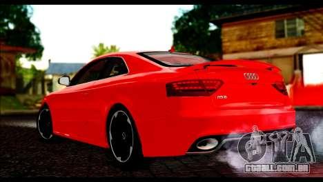 Audi RS5 Coupe para GTA San Andreas esquerda vista