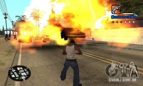 Samaro C-HUD para GTA San Andreas por diante tela