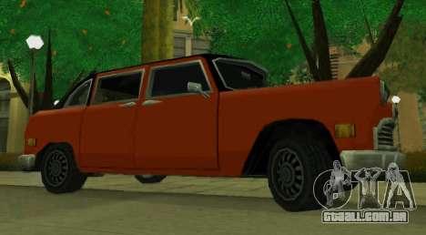 Cabbie Restyle para GTA San Andreas esquerda vista