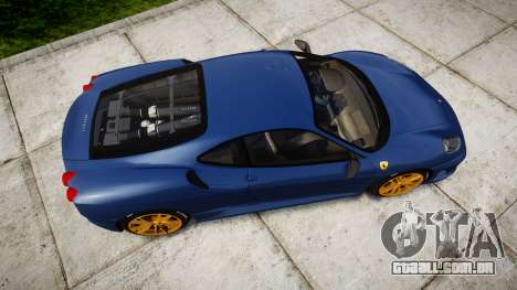 Ferrari F430 Scuderia 2007 plate Scuderia para GTA 4 vista direita