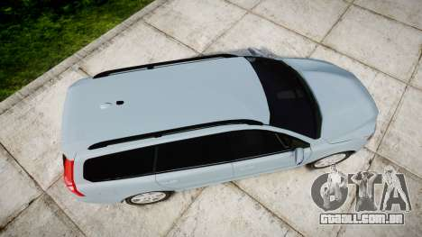 Volvo V70 2014 Swedish Police [ELS] Unmarked para GTA 4 vista direita