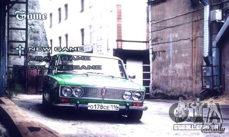 Menu Russo Carros para GTA San Andreas terceira tela