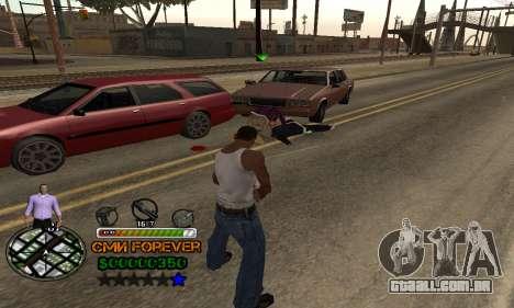 C-HUD СМИ PARA SEMPRE para GTA San Andreas por diante tela