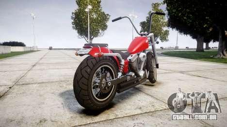 Western Motorcycle Company Daemon para GTA 4 traseira esquerda vista