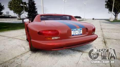 Dodge Viper RT-10 1992 para GTA 4 traseira esquerda vista