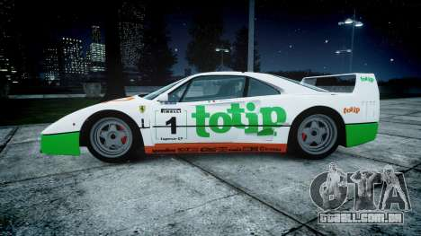 Ferrari F40 1987 [EPM] Jolly Club para GTA 4 esquerda vista