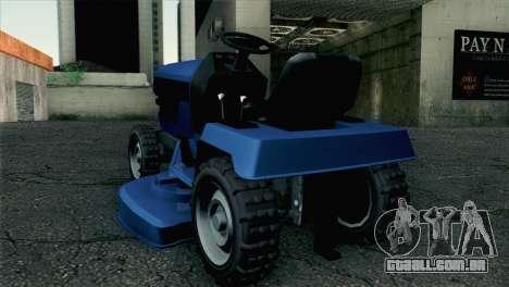 GTA V Mower para GTA San Andreas esquerda vista