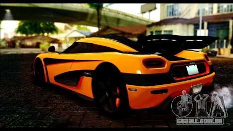 Koenigsegg One:1 v2 para GTA San Andreas esquerda vista