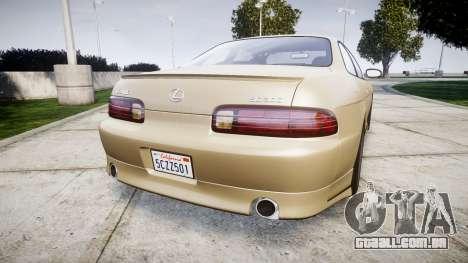 Lexus SC300 1997 para GTA 4 traseira esquerda vista