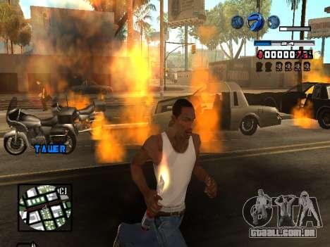 C-HUD Fantastik para GTA San Andreas sexta tela