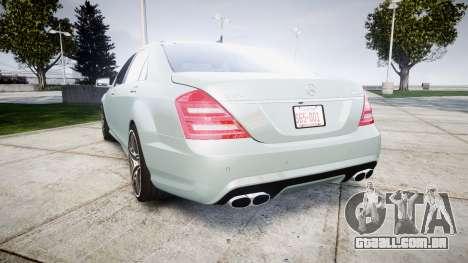 Mercedes-Benz S65 W221 AMG v2.0 rims1 para GTA 4 traseira esquerda vista