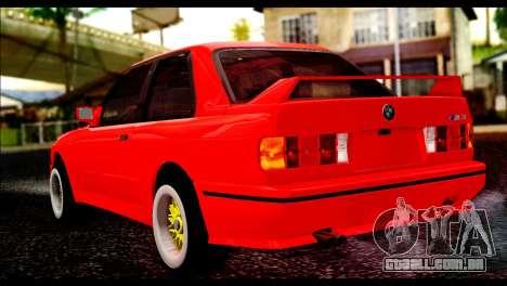 BMW M3 E30 Stock para GTA San Andreas esquerda vista