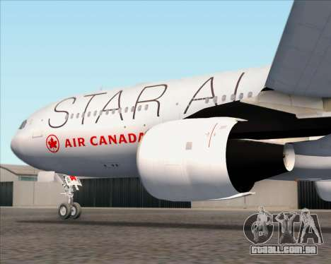Airbus A330-300 Air Canada Star Alliance Livery para as rodas de GTA San Andreas