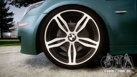 BMW M5 E60 v2.0 Stock rims para GTA 4 vista de volta