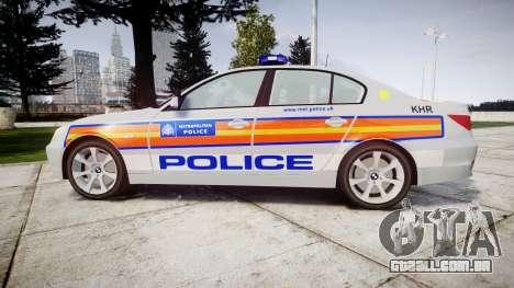 BMW 525d E60 2010 Police [ELS] para GTA 4 esquerda vista