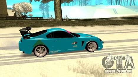 Toyota Supra Blue Lightning para GTA San Andreas traseira esquerda vista