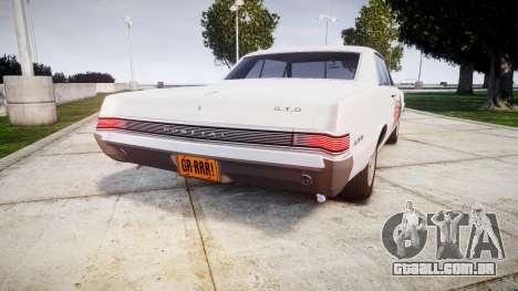 Pontiac GTO 1965 united para GTA 4 traseira esquerda vista