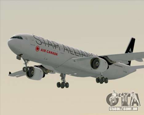 Airbus A330-300 Air Canada Star Alliance Livery para GTA San Andreas vista traseira