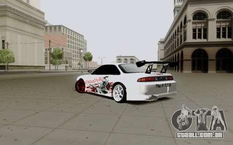 Nissan Silvia S14 VCDT V2.0 para GTA San Andreas traseira esquerda vista