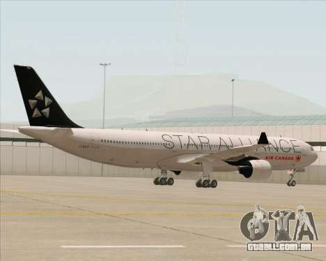 Airbus A330-300 Air Canada Star Alliance Livery para GTA San Andreas vista interior