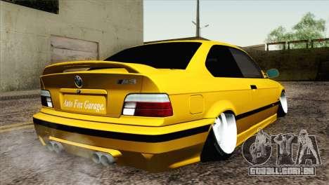 BMW M3 E36 Camber Style para GTA San Andreas esquerda vista