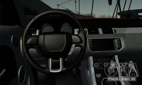 Range Rover Evoque 2014 para GTA San Andreas traseira esquerda vista