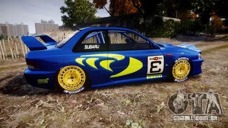 Subaru Impreza WRC 1998 v4.0 World Rally para GTA 4 esquerda vista