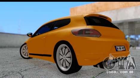 Volkswagen Scirocco para GTA San Andreas esquerda vista