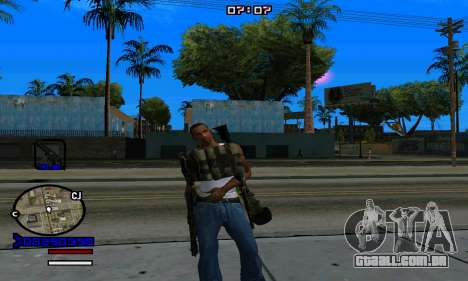 C-HUD Normal para GTA San Andreas sexta tela