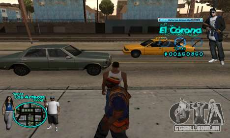 C-HUD Aztec El Corona para GTA San Andreas segunda tela