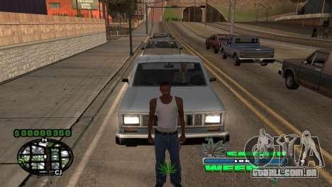 C-HUD Smoke Weed para GTA San Andreas