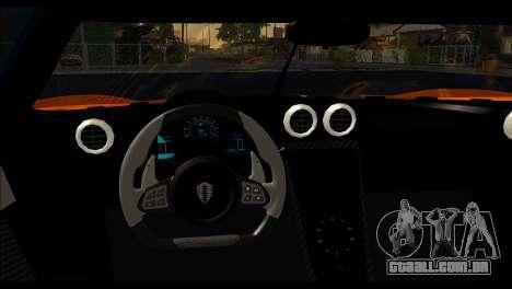 Koenigsegg One:1 v2 para GTA San Andreas traseira esquerda vista