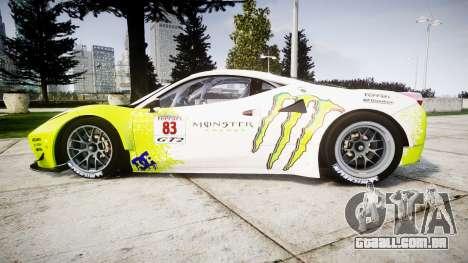 Ferrari 458 GT2 para GTA 4 esquerda vista