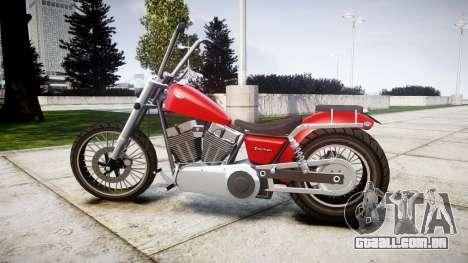 Western Motorcycle Company Daemon para GTA 4 esquerda vista
