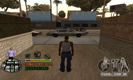 C-HUD СМИ PARA SEMPRE para GTA San Andreas segunda tela