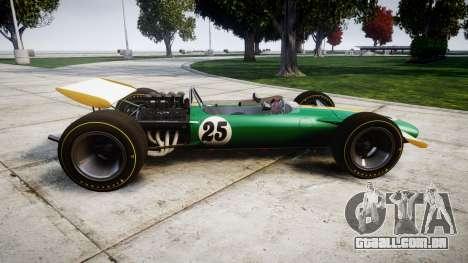 Lotus Type 49 1967 [RIV] PJ25-26 para GTA 4 esquerda vista