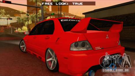 Mitsubishi Lancer Evolution VIII MR para GTA San Andreas esquerda vista