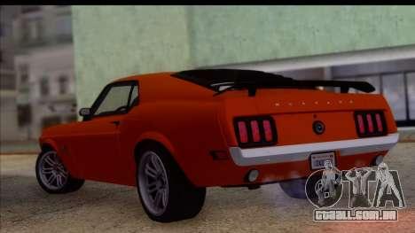 Ford Mustang Boss 429 1970 para GTA San Andreas esquerda vista