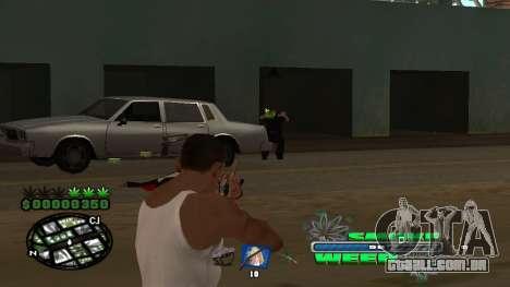 C-HUD Smoke Weed para GTA San Andreas sexta tela