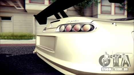 Toyota Supra Street Edition para GTA San Andreas traseira esquerda vista
