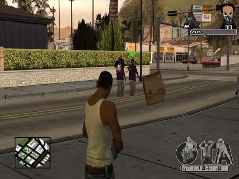 Marusya C-HUD para GTA San Andreas segunda tela