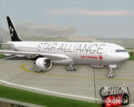 Airbus A330-300 Air Canada Star Alliance Livery para GTA San Andreas traseira esquerda vista