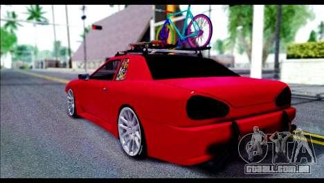 Elegy Slammed para GTA San Andreas traseira esquerda vista