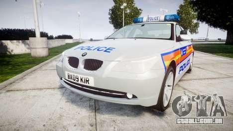 BMW 525d E60 2009 Police [ELS] para GTA 4