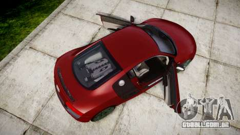 Audi R8 V10 Plus 2014 para GTA 4 vista direita