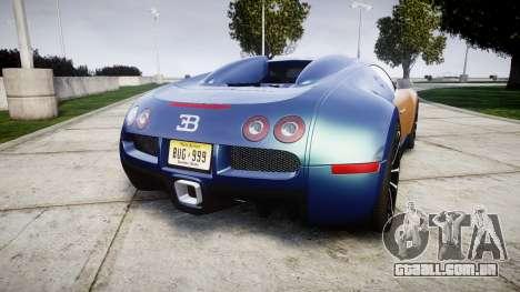 Bugatti Veyron 16.4 v2.0 para GTA 4 traseira esquerda vista
