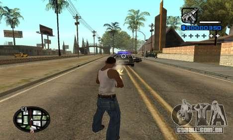 Samaro C-HUD para GTA San Andreas terceira tela